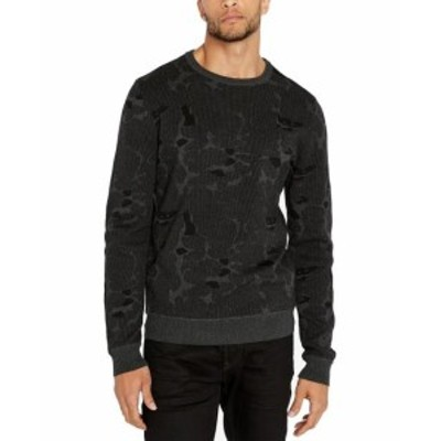 buffalo バッファロー ファッション トップス Buffalo David Bitton Mens Sweater Black Size 2XL Printed Knit Crewneck