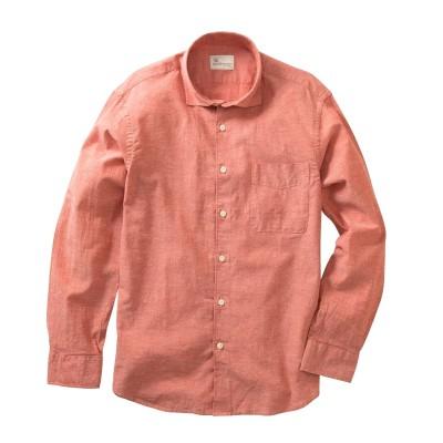 CANTERBURY WOOD(カンタベリーウッド)綿麻シャンブレー長袖シャツ カジュアルシャツ, Shirts,