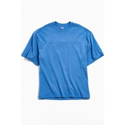アーバンアウトフィッターズ Urban Outfitters メンズ Tシャツ トップス uo football seam tee Blue