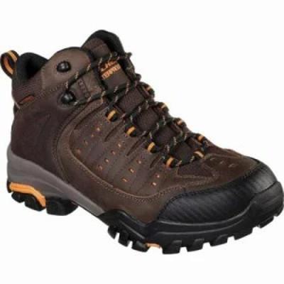 スケッチャーズ ブーツ Work Delleker Kilrush Waterproof Boot Brown/Orange