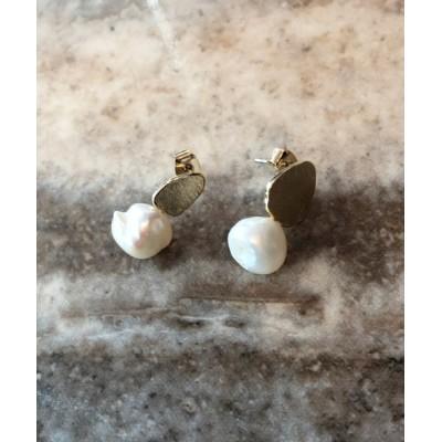 My shawty / pearl plate pierce WOMEN アクセサリー > ピアス(両耳用)