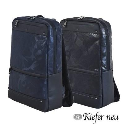 バッグパック レザーバッグ メンズバッグ 直営ショップ  Kiefer キーファーノイ Scudo series KFN8302S ブラック迷彩 ネイビー迷彩