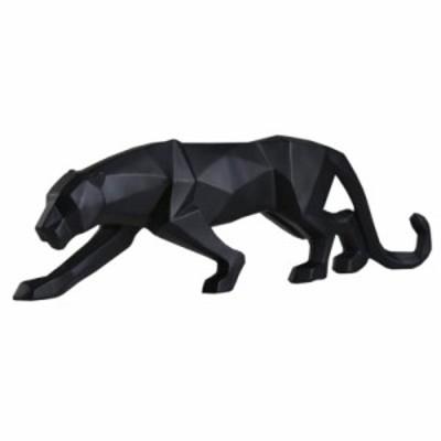 モダン ブラックパンサー彫刻 幾何学的 レジン デコレーション ギフト オーナメント O034【領収発行可】
