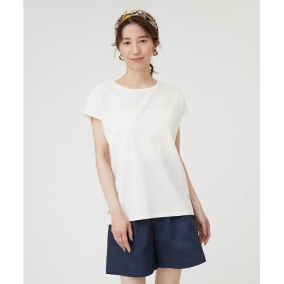 tシャツ Tシャツ シャドーストライプノースリーブ2WAYプルオーバー