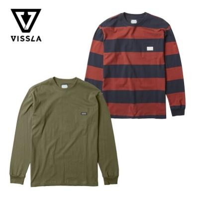 ヴィスラ ロンT ニットTシャツ VISSLA Creators Block Eco Long Sleeve Knit Tee クリエイター ブロック エコ 長袖Tシャツ ポケットTシャツ 厚手 【ネコポス】