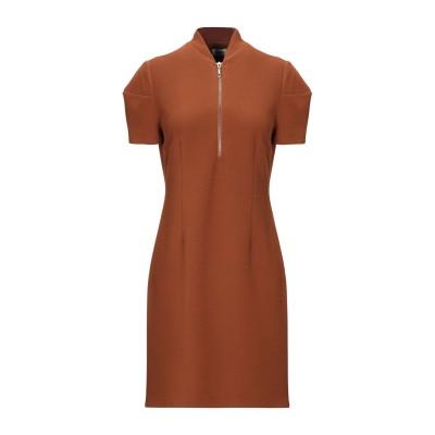 KATE BY LALTRAMODA ミニワンピース&ドレス ブラウン M ポリエステル 95% / ポリウレタン 5% ミニワンピース&ドレス
