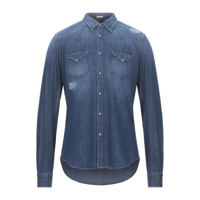 OGNUNOLASUA by CAMICETTASNOB デニムシャツ  メンズファッション  トップス  シャツ、カジュアルシャツ  長袖 ブルー