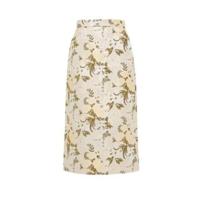ブロック コレクション Brock Collection レディース ひざ丈スカート ペンシルスカート スカート Floral-brocade pencil skirt Beige