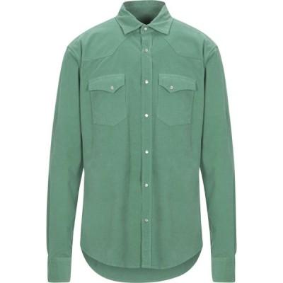 ボクー ..,BEAUCOUP メンズ シャツ トップス solid color shirt Green
