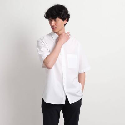タケオ キクチ TAKEO KIKUCHI オーバーサイズ 半袖シャツ (ホワイト)