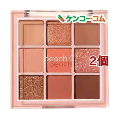 Peach C ソフトムード アイシャドウパレット ソフトコーラル ( 10g*2個セット )