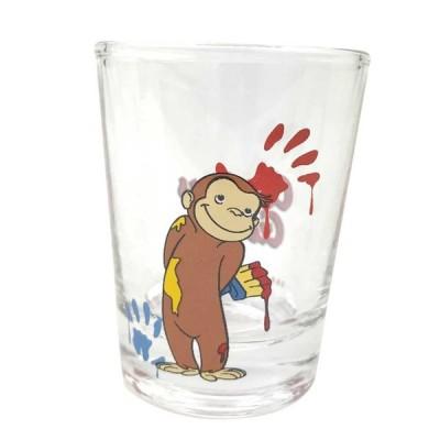 ミニグラス おさるのジョージ絵の具 ショットグラス コップ キャラクター グラス かわいい おさるのジョージ グッズ