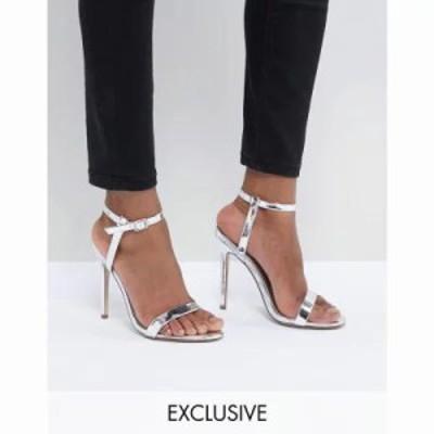 ミスガイデッド サンダル・ミュール Barely There Heeled Sandals Silver