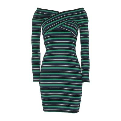 オープニングセレモニー OPENING CEREMONY ミニワンピース&ドレス グリーン M コットン 95% / ポリウレタン 5% ミニワンピ