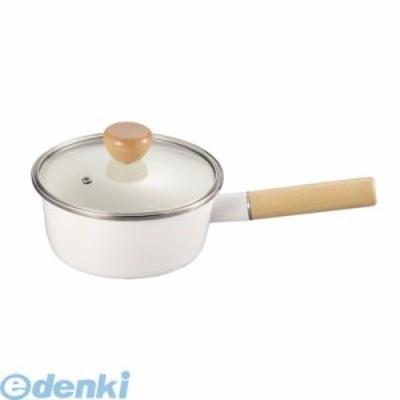 パール金属 [HB-801] アミィ ホーローガラス蓋片手鍋16【ホワイト】 HB801【キャンセル不可】