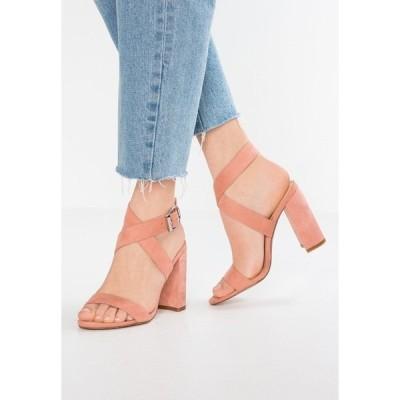 エブンアンドオッド サンダル レディース シューズ High heeled sandals - rose