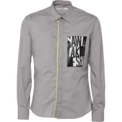 タケシ クロサワ TAKESHY KUROSAWA メンズ シャツ トップス Solid Color Shirt Light grey