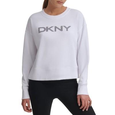 ダナ キャラン ニューヨーク レディース シャツ トップス Sport Logo Sweatshirt