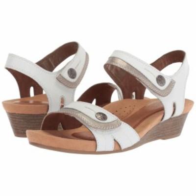 ロックポート Rockport Cobb Hill Collection レディース サンダル・ミュール シューズ・靴 cobb hill hollywood two-piece sandal White