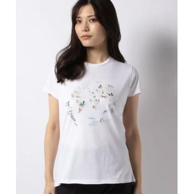 CARA O CRUZ/キャラ・オ・クルス アニマルプリントTシャツ オフホワイト1 11