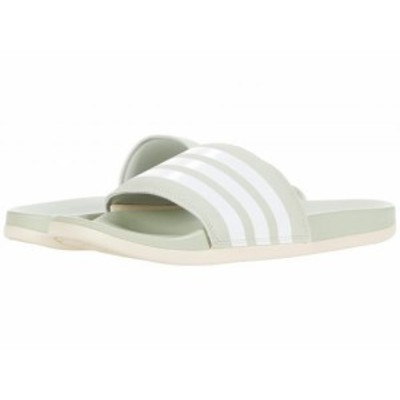 adidas アディダス レディース 女性用 シューズ 靴 サンダル Adilette Comfort Slides Halo Green/White/Halo Ivory【送料無料】