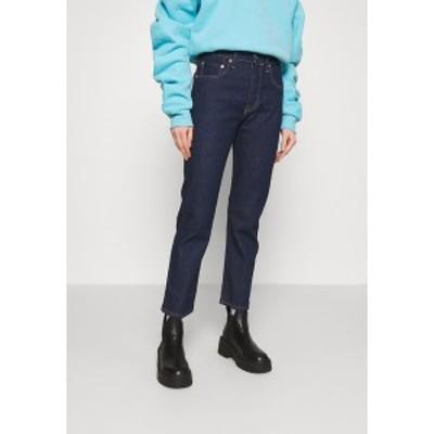 リーバイス メイド アンド クラフテッド レディース デニムパンツ ボトムス 501 CROP - Straight leg jeans - raw indigo raw indigo