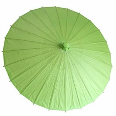 和傘 日傘 無地 直径84cm (緑) コスプレ イベント 飾り 小道具 撮影