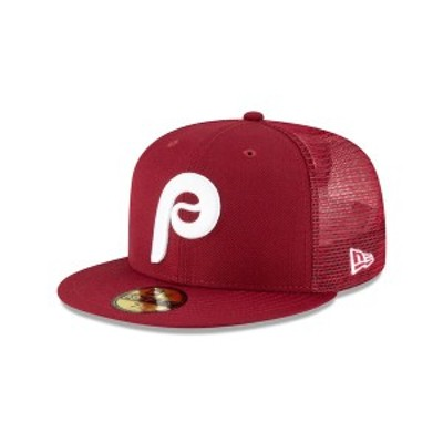 ニューエラ メンズ 帽子 アクセサリー Philadelphia Phillies New Era Team On-Field Replica Mesh Back 59FIFTY Fitted Hat Maroon