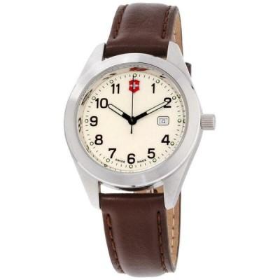 腕時計 ヴィクトリノックス Victorinox Swiss Army 26029 CB Garrison Watch Brown Leather 32mm