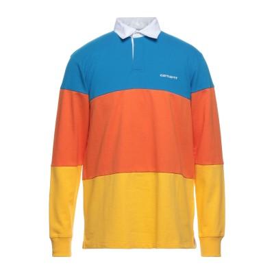 カーハート CARHARTT ポロシャツ アジュールブルー L コットン 100% ポロシャツ