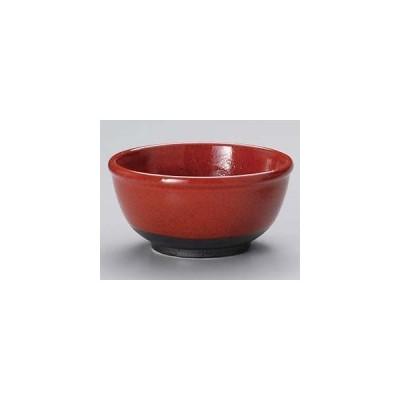 和食器 タ325-247 赤釉4.5玉渕碗