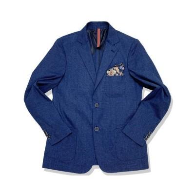 イタリアブランドNOUS テーラードジャケット(ポケットチーフ カラークロス付き)