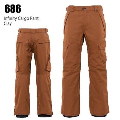686 シックスエイトシックス ウェア Infinity Cargo Pant 21-22 Cray メンズ パンツ スノーボード ロクハチ