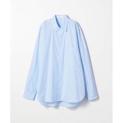 【トゥモローランド】 160/2コットンブロード レギュラーカラーシャツ メンズ 61サックスブルー 48 TOMORROWLAND