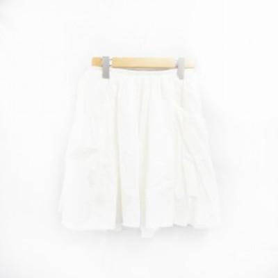 【中古】マカフィー MACPHEE トゥモローランド スカート フレア ひざ丈 34 白 /YK レディース