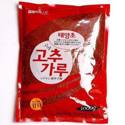 市場唐辛子粉1kgキムチ用甘口(粗い)-中国産/唐辛子粉/調味料