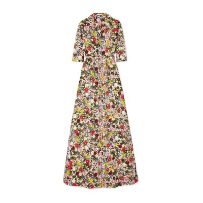 アーデム ERDEM ロングワンピース&ドレス ホワイト 12 コットン 100% ロングワンピース&ドレス