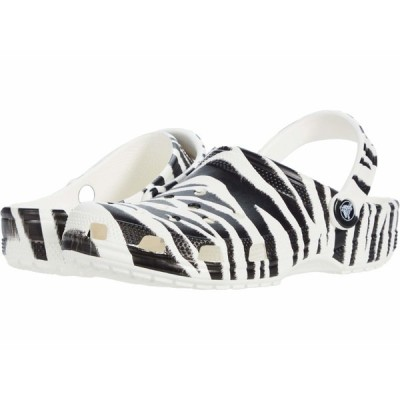 クロックス サンダル シューズ メンズ Classic Animal Print Clog White/Zebra Print