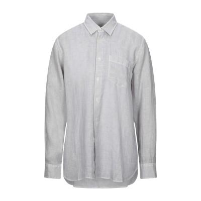 120% シャツ グレー L リネン 100% シャツ