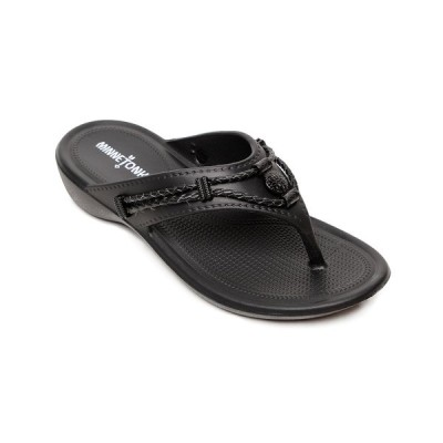 ミネトンカ サンダル シューズ レディース Silverthorne Prism Flip-Flop Sandal Black