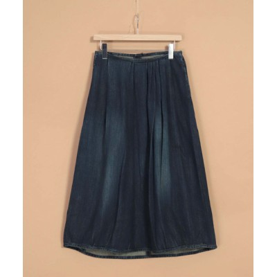 DOMINGO / [OMNIGOD womens / オムニゴッド] 甘織りデニムギャザースカート WOMEN スカート > デニムスカート