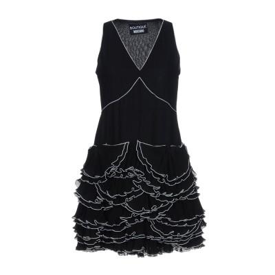 BOUTIQUE MOSCHINO ミニワンピース&ドレス ブラック 40 ポリエステル 100% ミニワンピース&ドレス