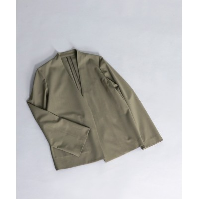 DRESSLAVE / bravolle collarless jacket(ウールノーカラーロングジャケット) WOMEN ジャケット/アウター > ノーカラージャケット