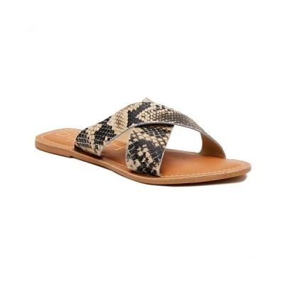 マチス サンダル シューズ レディース Beach By Women's Pebble Sandal Natural Multi Snake - Leather