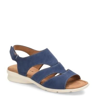 コンフォーティバ レディース サンダル シューズ Parma Banded Suede Sandals Blue