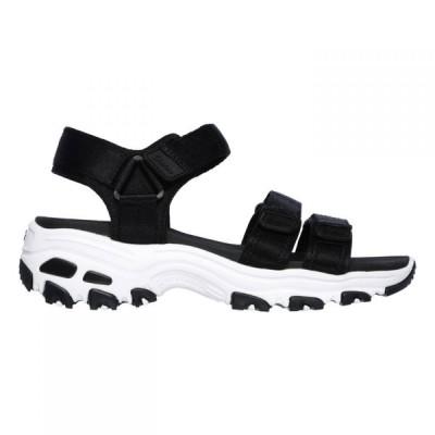 スケッチャーズ Skechers レディース サンダル・ミュール シューズ・靴 Dlite Catch Sandals Black