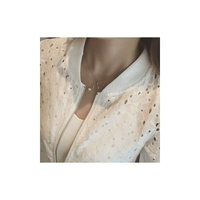 ジャケット シースルーレースジャケット(ホワイト) アウター ブルーン 美ライン エレガント フェミニン お出かけ お呼ばれ