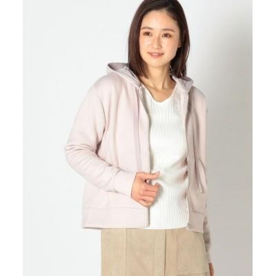 MEW'S REFINED CLOTHES / ダンボールニットジップパーカー WOMEN トップス > パーカー