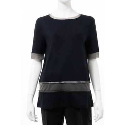 ファビアナ フィリッピ FABIANA FILIPPI Tシャツ 半袖 丸首 クルーネック レディース JE46419 H239 ブラック