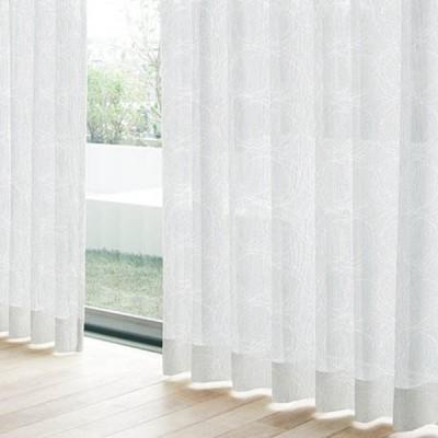 レースカーテン フロストレース ホワイト(1枚) 巾100cm×丈103cm